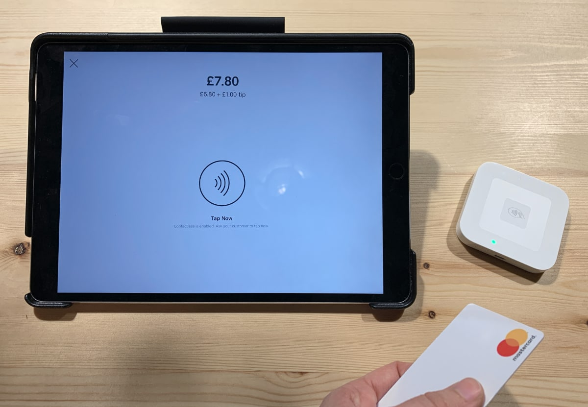 Square Reader contactless card payment