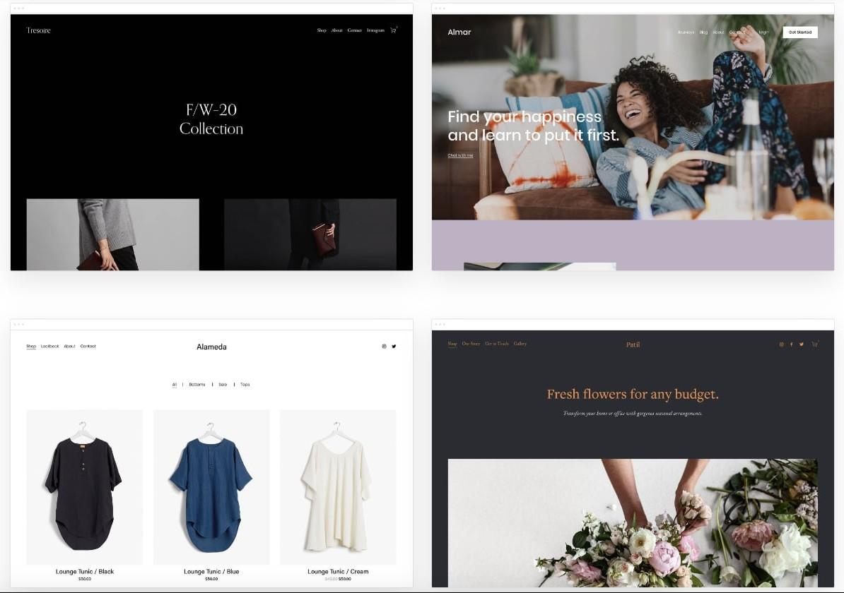 Squarespace ecommerce templates