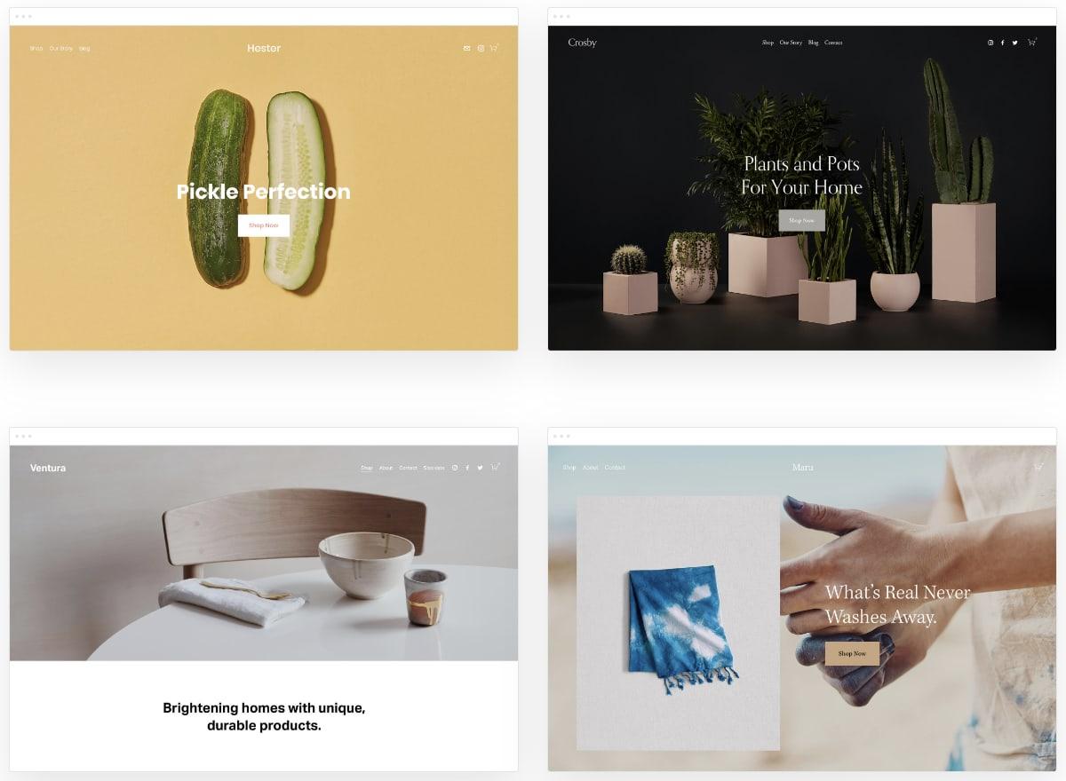 Squarespace online shop templates