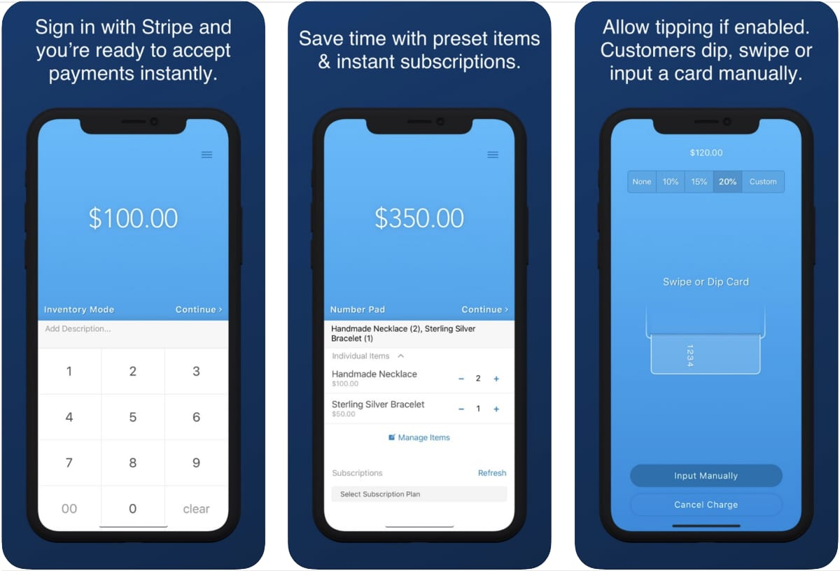 Collect for Stripe screenshots