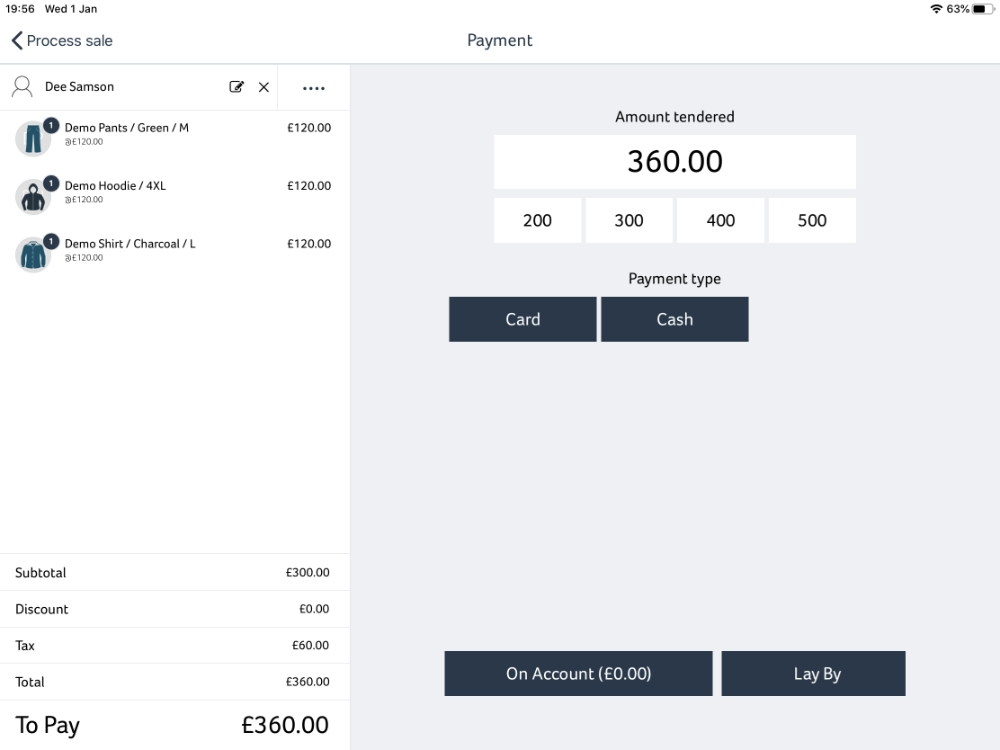 Hike POS checkout payment