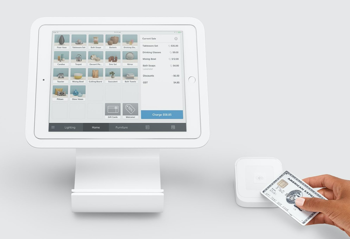 Square Stand and Reader with iPad app