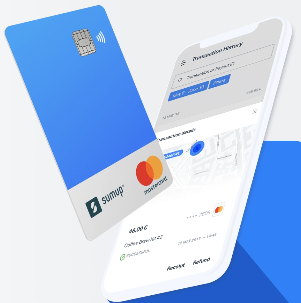SumUp Card with smartphone