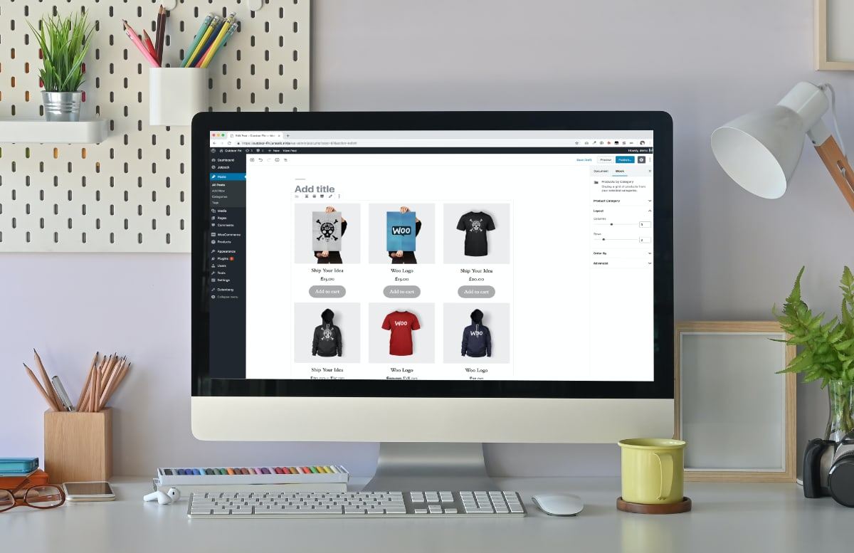WooCommerce product editor