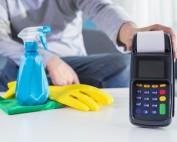 how to clean a card machine