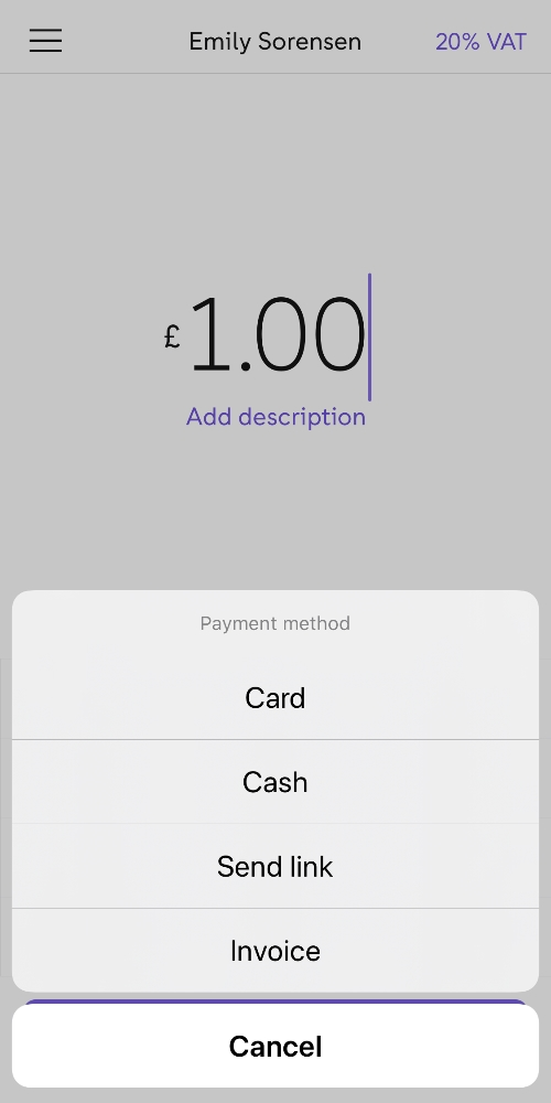 iZettle Go payment methods