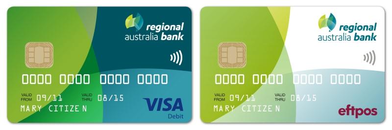 Australian Visa Debit and eftpos cards