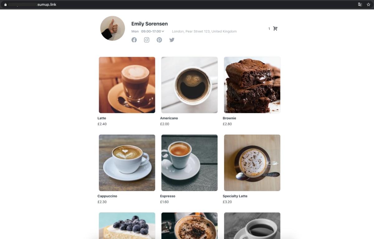 SumUp Online Store desktop