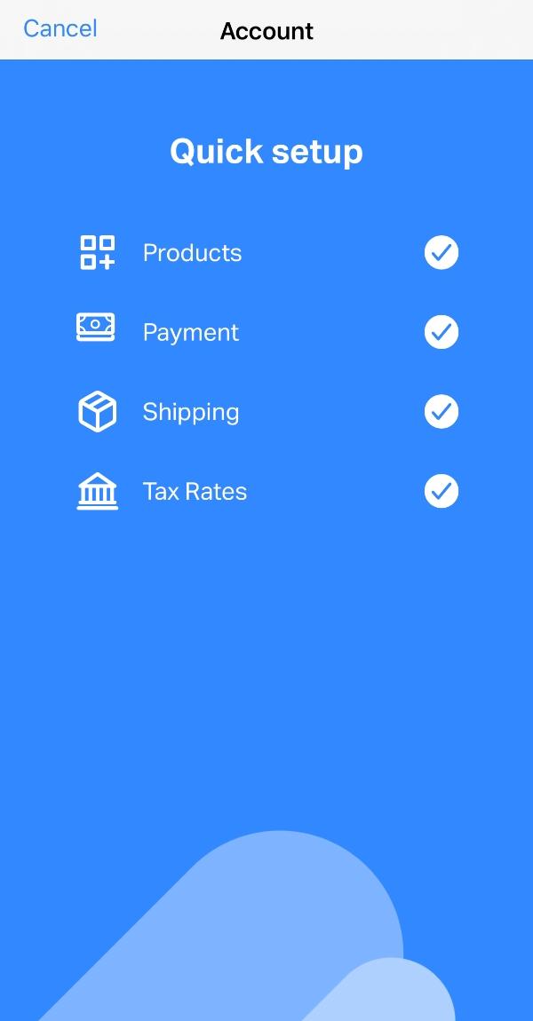 SumUp Online Store Starter setup