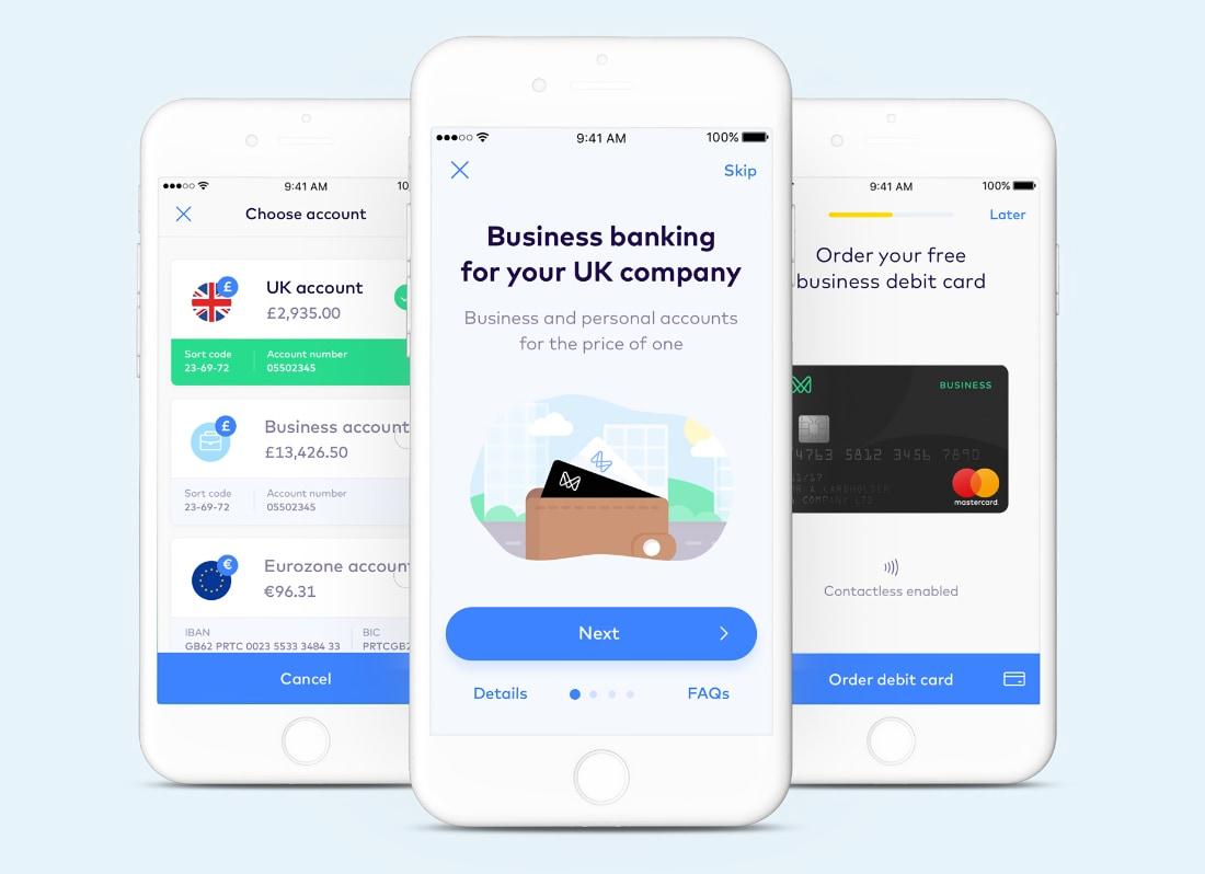 Monese Business app