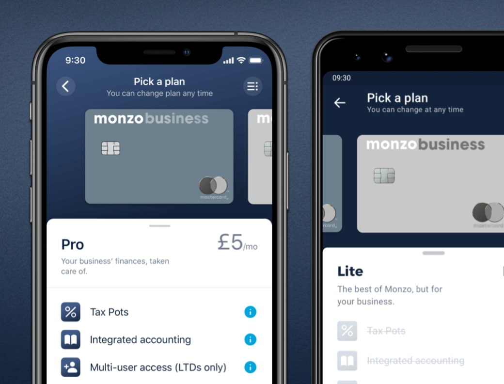 Monzo Business account differences