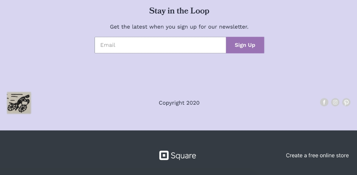 Square Online Store footer free