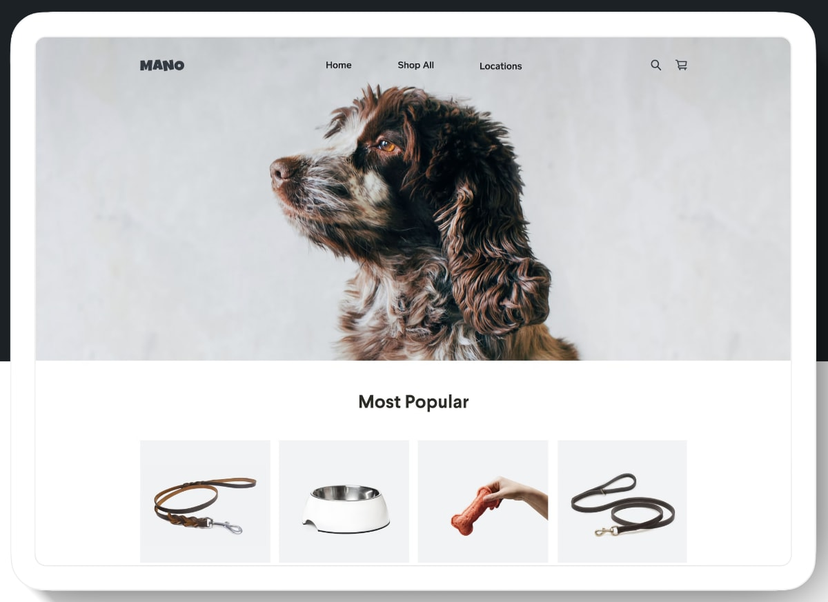 Square Online Store template for retail