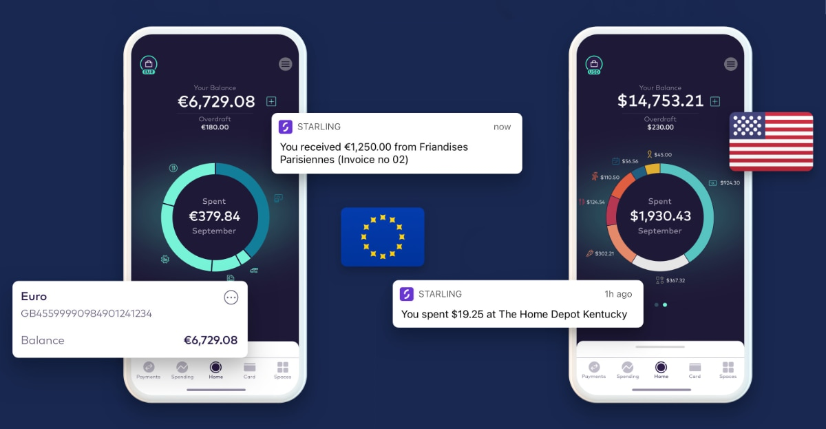 Starling multi-currency accounts