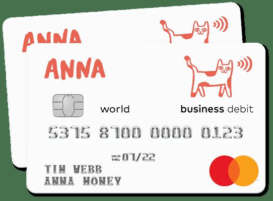 ANNA business debit card