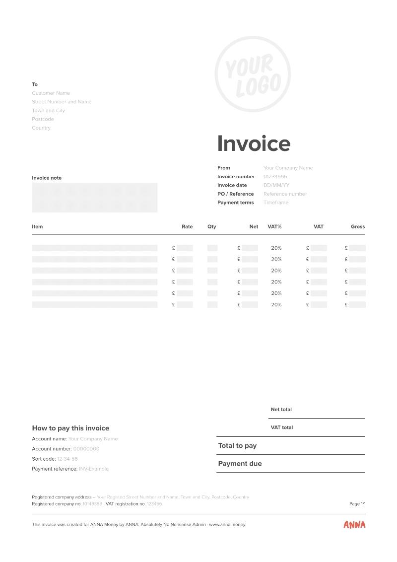 ANNA invoice template