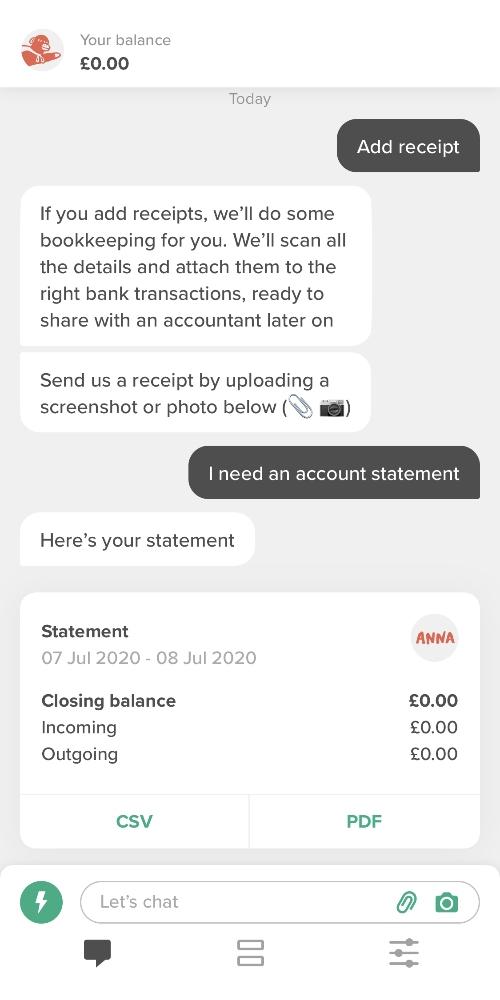 Anna Money app chat