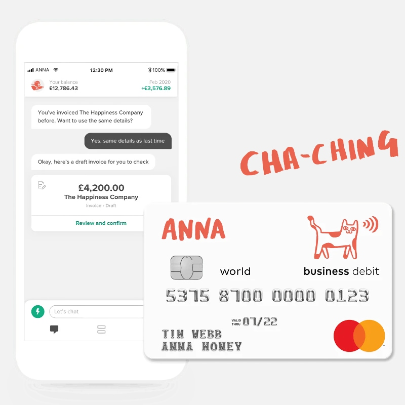 ANNA Money sole trader account