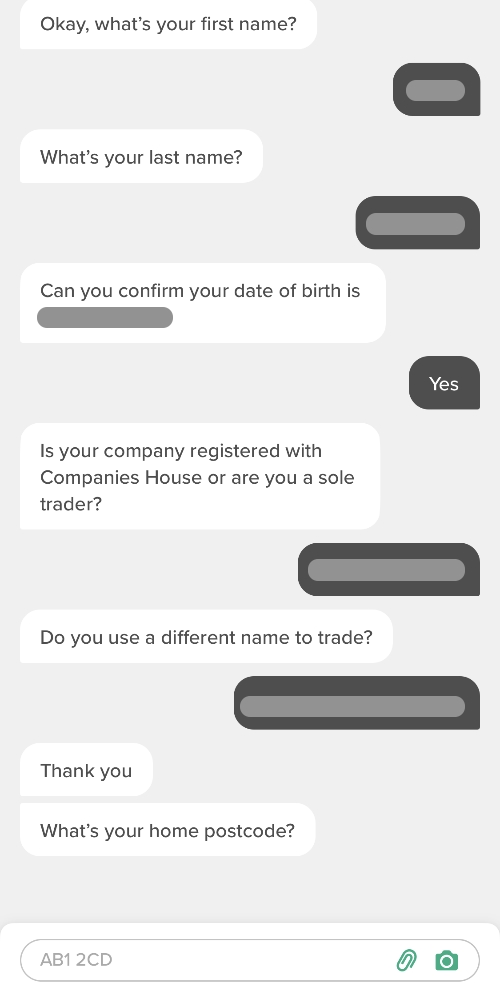 ANNA Money sign-up questions