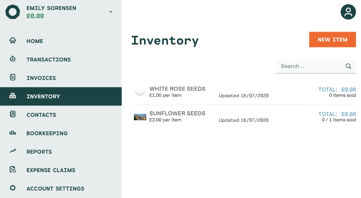 Holvi inventory library
