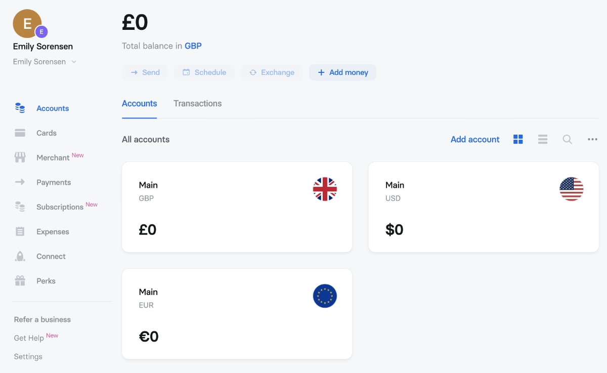 Revolut Business multi-currency account