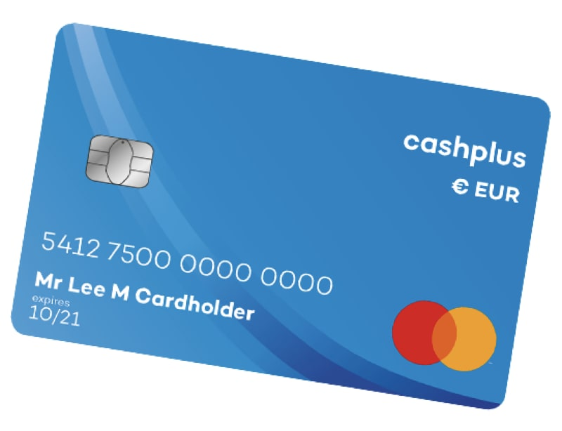 Cashplus Euro account card