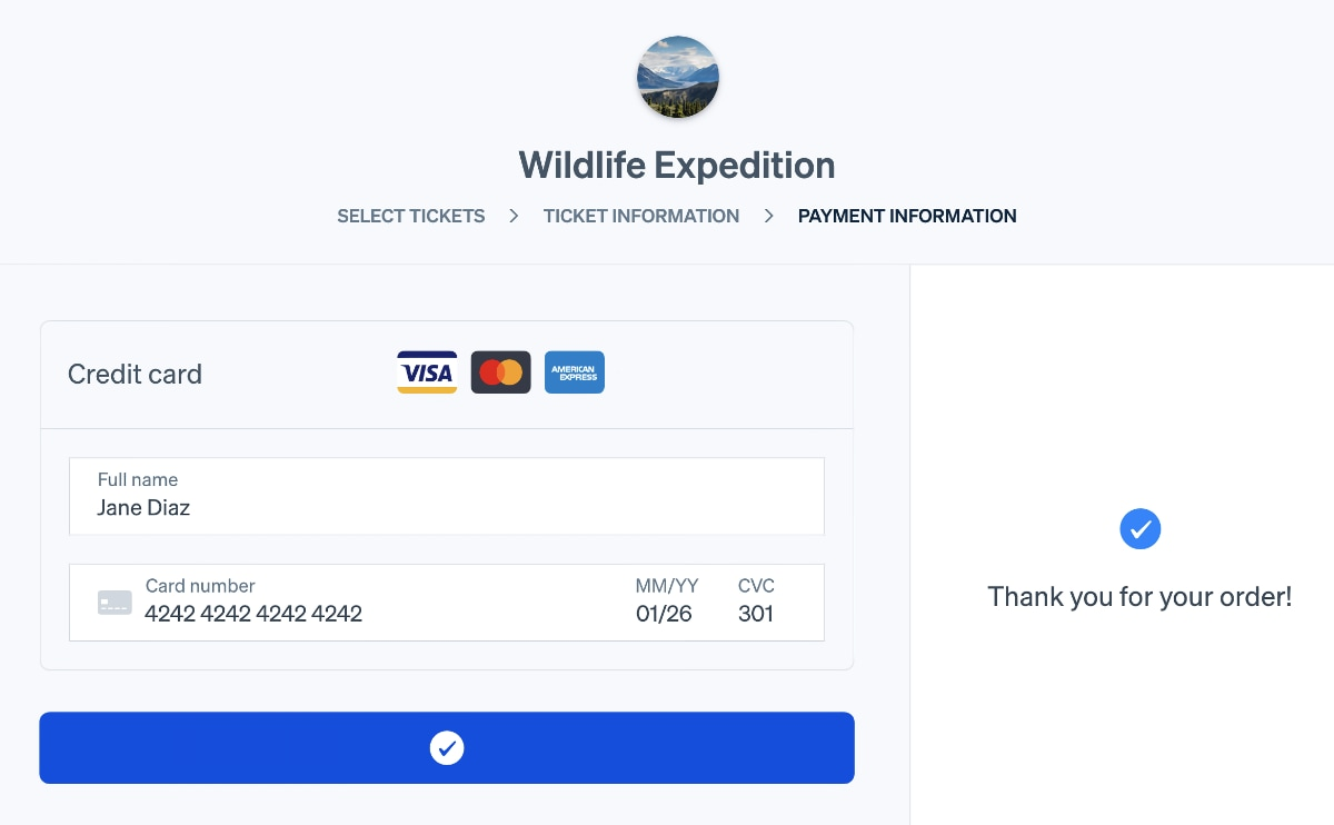 Stripe checkout example