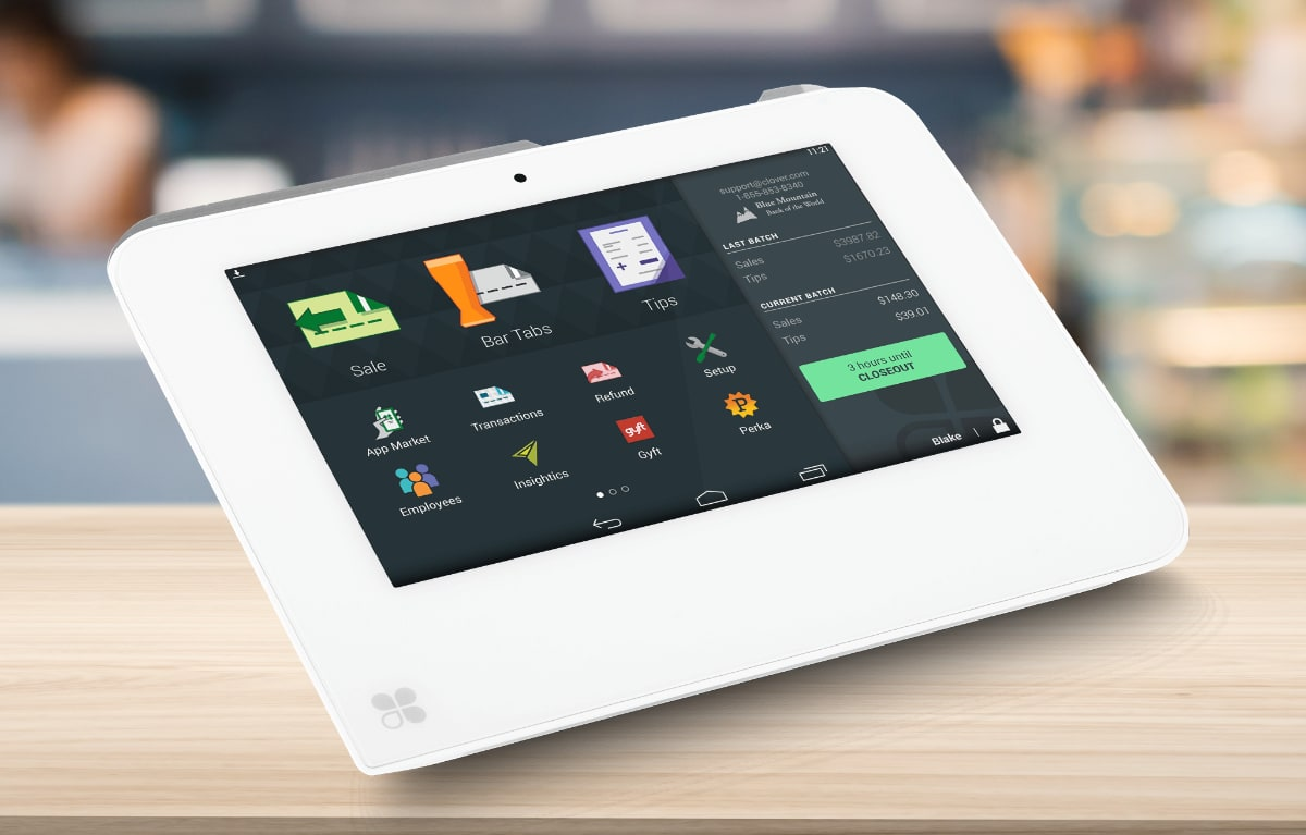 Clover Mini tablet checkout