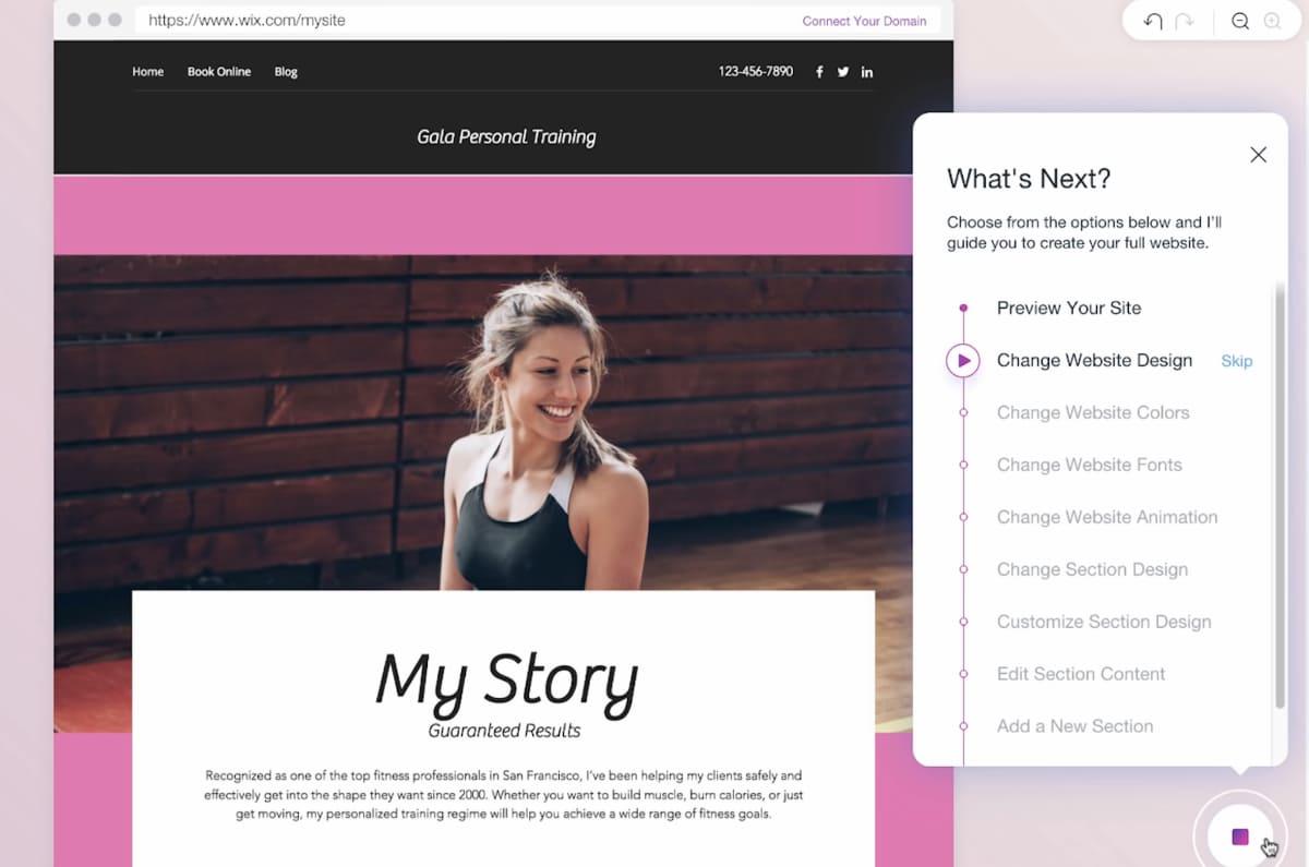 Wix ADI website builder