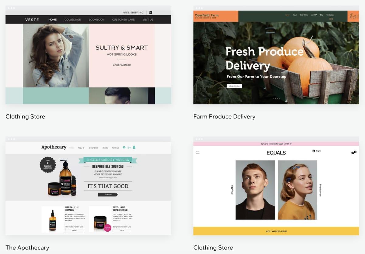 Wix ecommerce themes