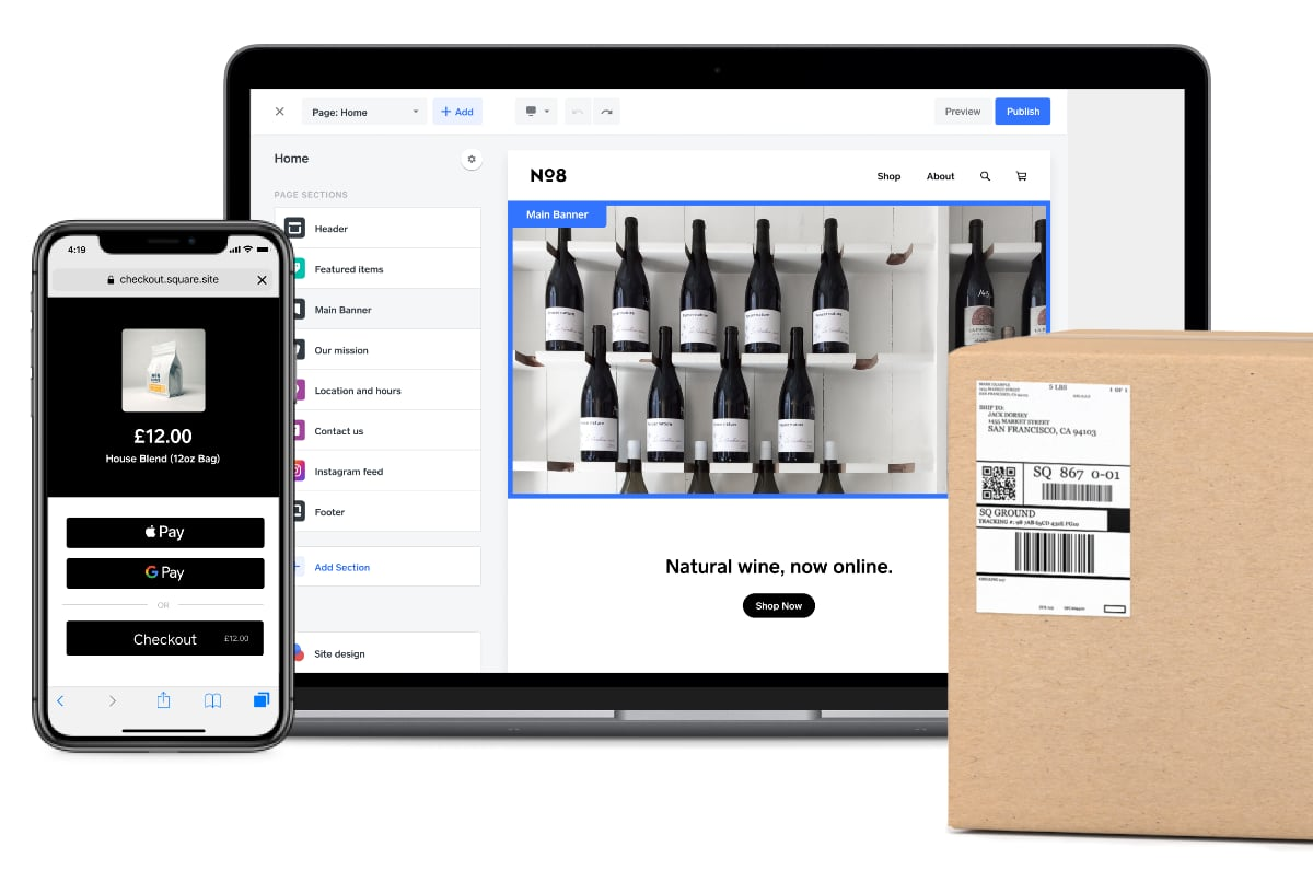 Square Online ordering