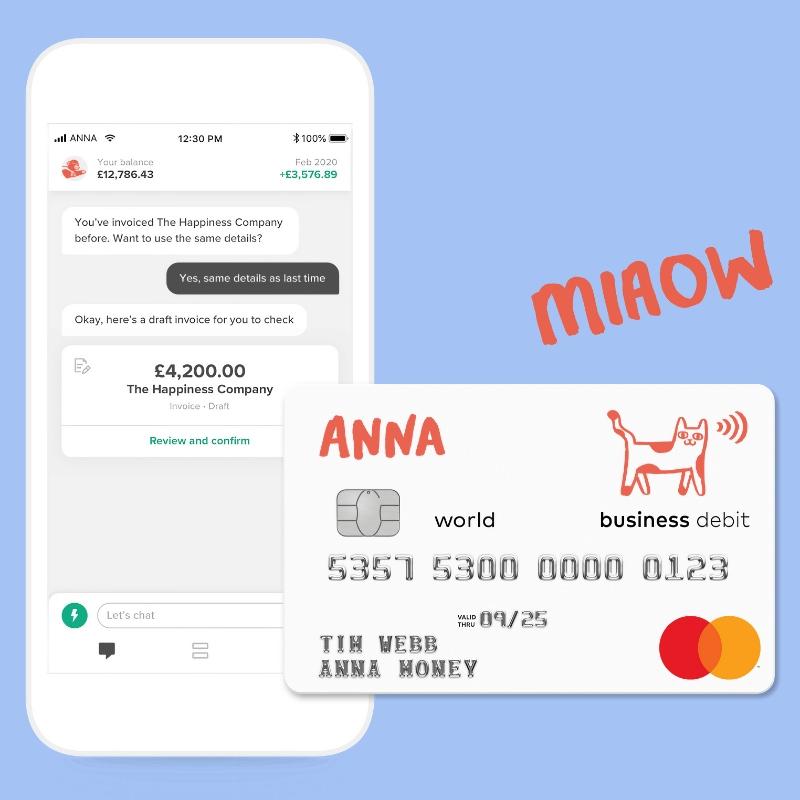 ANNA app debit card