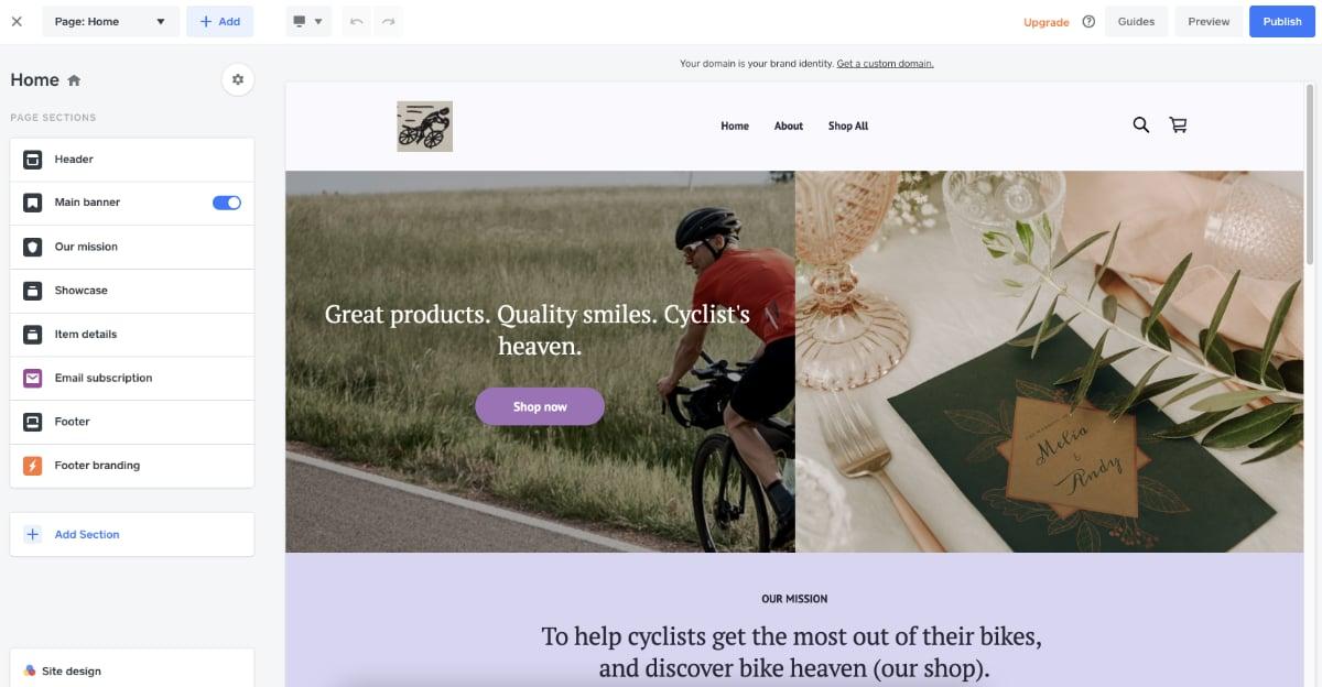 Square Online website builder
