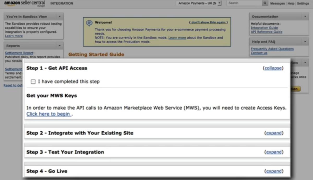 Amazon Pay integration steps