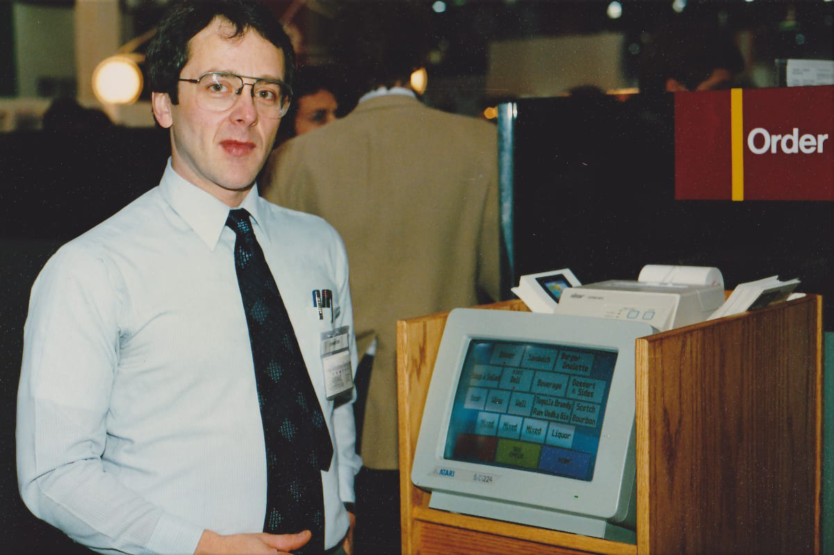 first touchscreen POS