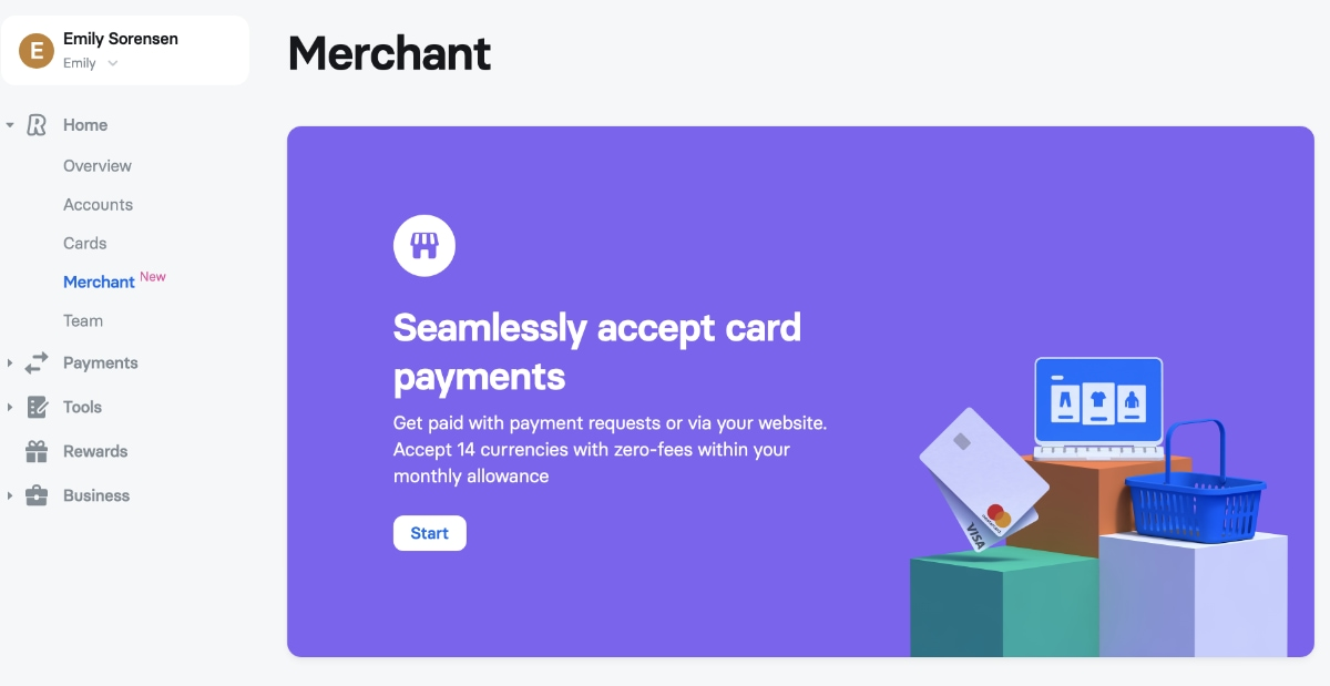 Revolut Business merchant account