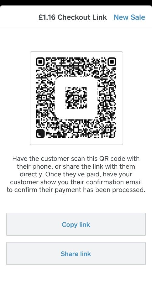 Square Checkout QR code