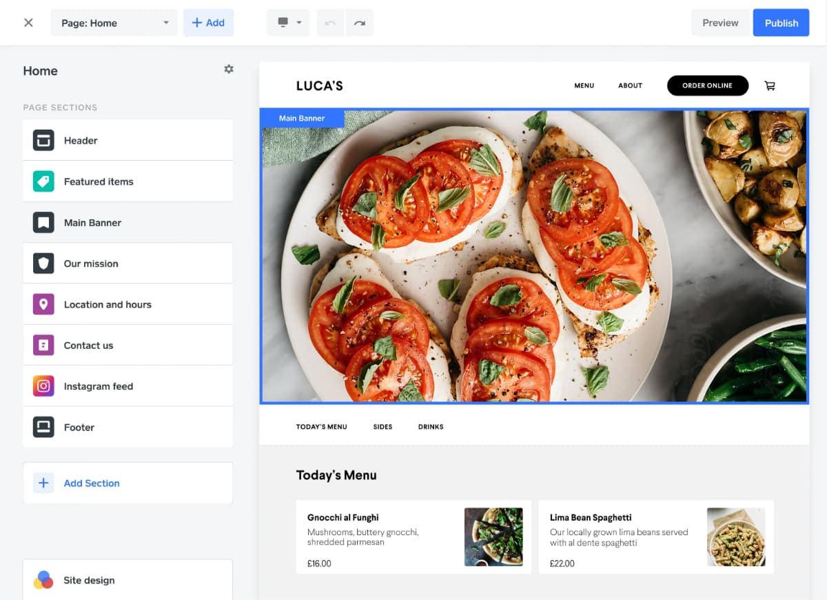 Square online store editor