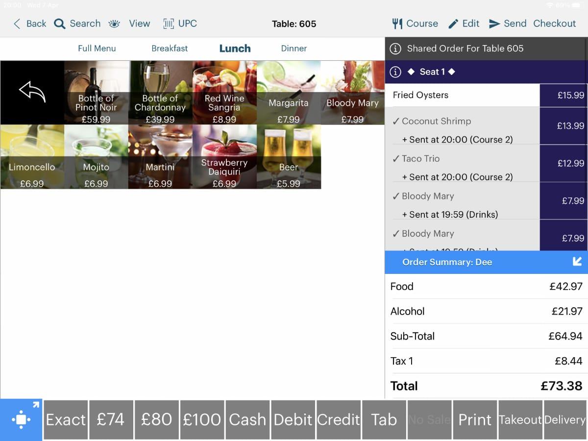 TouchBistro POS register
