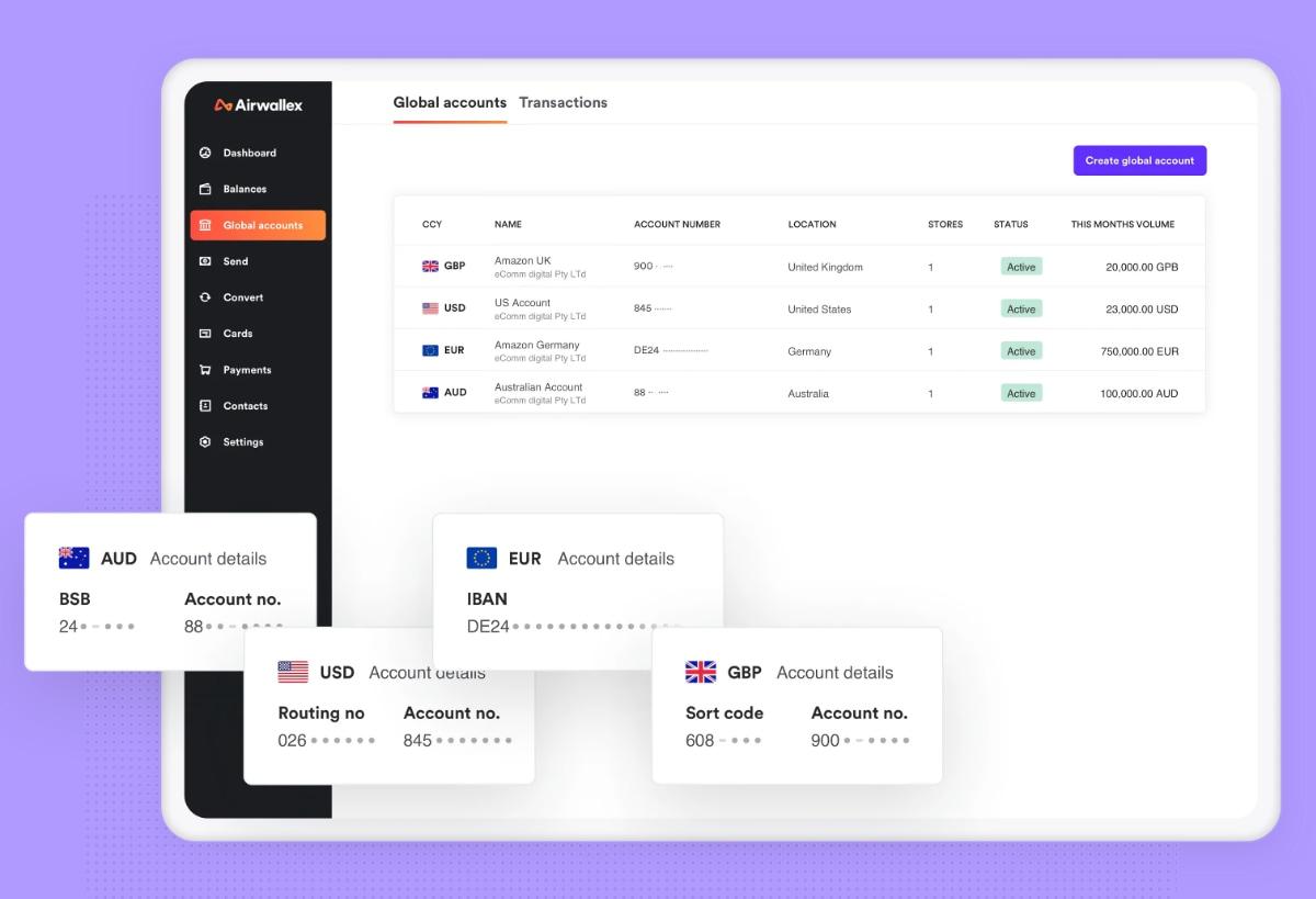 Airwallex Global Accounts