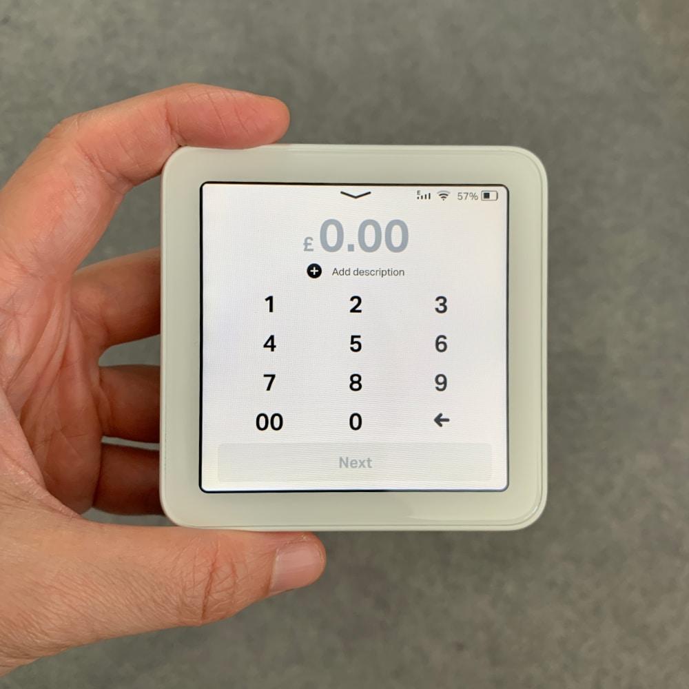 SumUp Solo checkout screen