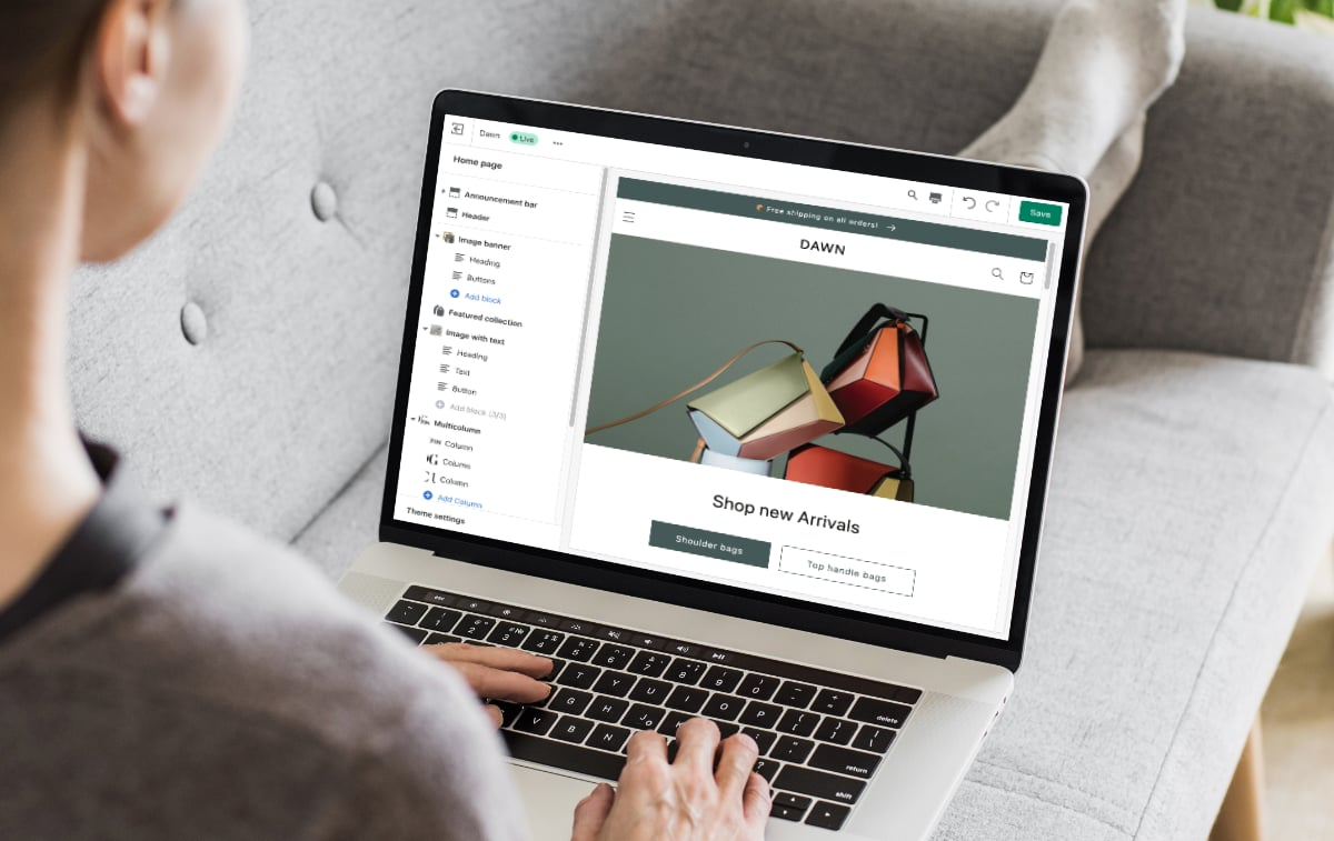 website Shopify
