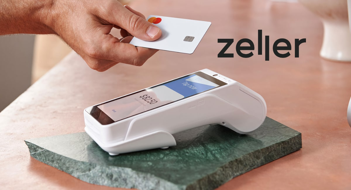 Contactless tap with card on Zeller terminal
